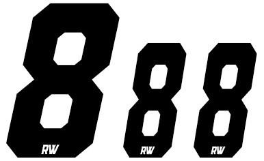 Set Cijfers WIT - Nummerbord/Zijnummerbord